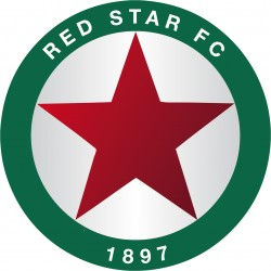 TRANSFERT TEXTILE VETEMENT SUPPORTER FOOTBALL LOGO FRANCE CLUB OLYMPIQUE RED STAR FC NEUF