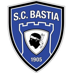 TRANSFERT TEXTILE VETEMENT SUPPORTER FOOTBALL FRANCE LOGO CLUB OLYMPIQUE BASTIA NEUF