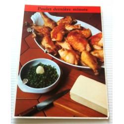 """FICHE CUISINE de ELLE vintage rétro par Madeleine Peter """"poulet dernière minute"""""""