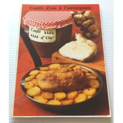 """FICHE CUISINE de ELLE vintage rétro par Madeleine Peter """"confit d'oie à l'auvergnate"""""""