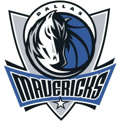 TRANSFERT TEXTILE VETEMENT SUPPORTER NBA LOGO DALLAS MAVERICKS NEUF