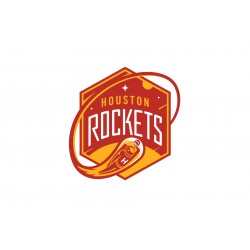 TRANSFERT TEXTILE VETEMENT SUPPORTER NBA LOGO HOUSTON ROCKETS