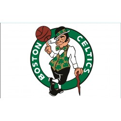 TRANSFERT TEXTILE VETEMENT SUPPORTER NBA LOGO BOSTON CELTICS