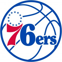 TRANSFERT TEXTILE VETEMENT SUPPORTER NBA LOGO PHILADELPHIA 76ers