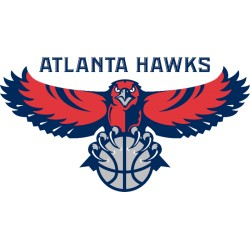 TRANSFERT TEXTILE VETEMENT SUPPORTER NBA LOGO ATLANTA HAWKS