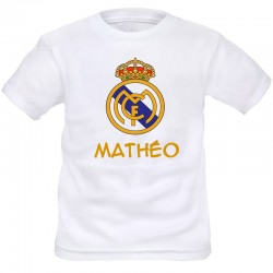 TRANSFERT TEXTILE T-SHIRT ENFANT PERSONNALISABLE REAL MADRID