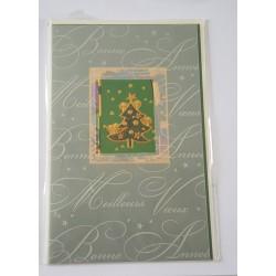 Carte postale neuve + enveloppe meilleurs voeux bonne année (30.04)
