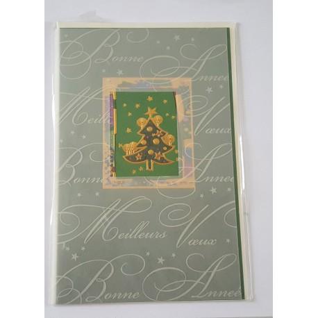 Carte postale neuve + enveloppe meilleurs voeux bonne année (lot 30.04)