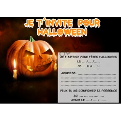 Lot de 6 cartes d' invitations HALLOWEEN enfant V08 NEUVE