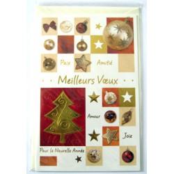 Carte postale neuve + enveloppe meilleurs voeux bonne année (37.07)