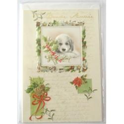 Carte postale neuve + enveloppe meilleurs voeux bonne année (37.11)