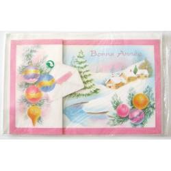 Carte postale neuve + enveloppe meilleurs voeux bonne année (37.12)