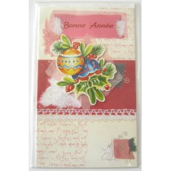 Carte postale neuve + enveloppe meilleurs voeux bonne année (38.01)