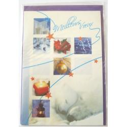 Carte postale neuve + enveloppe meilleurs voeux bonne année (38.06)