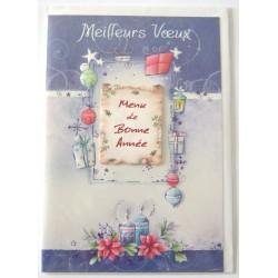Carte postale neuve + enveloppe meilleurs voeux bonne année (39.02)