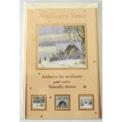 Carte postale neuve + enveloppe meilleurs voeux bonne année (41.02)