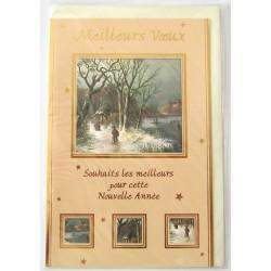 Carte postale neuve + enveloppe meilleurs voeux bonne année (41.03)