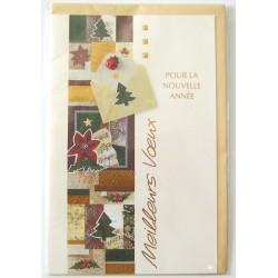 Carte postale neuve + enveloppe meilleurs voeux bonne année (41.04)