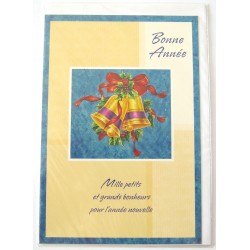 Carte postale neuve + enveloppe meilleurs voeux bonne année neuve