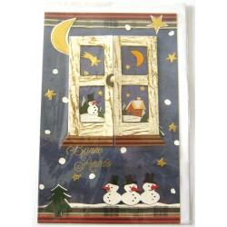 Carte postale neuve + enveloppe meilleurs voeux bonne année (lot 47.05)