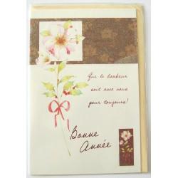 Carte postale neuve + enveloppe meilleurs voeux bonne année (lot 48.01)