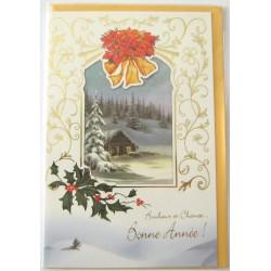 Carte postale neuve + enveloppe meilleurs voeux bonne année (lot 48.03)