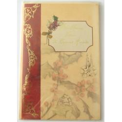 Carte postale neuve + enveloppe meilleurs voeux bonne année (lot 48.04)