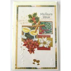 Carte postale neuve + enveloppe meilleurs voeux bonne année (lot 48.05)