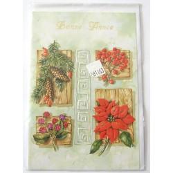 Carte postale neuve + enveloppe meilleurs voeux bonne année (lot 48.11)