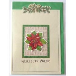 Carte postale neuve + enveloppe meilleurs voeux bonne année (lot 50.01)