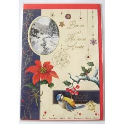 Carte postale neuve + enveloppe meilleurs voeux bonne année (lot 50.02)