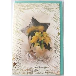 Carte postale neuve + enveloppe meilleurs voeux bonne année (lot 50.05)