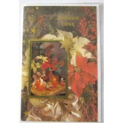 Carte postale neuve + enveloppe meilleurs voeux bonne année (lot 50.06)