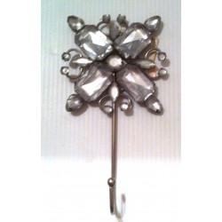 Porte torchons cuisine design déco métal imitation diamants carré