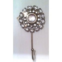 Porte torchons cuisine design déco métal imitation diamants rond