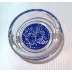 "Idées cadeau : cendrier collection "" manga AKIRA NAGATA "" bleu verre NEUF"