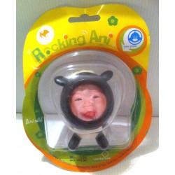 Idée cadeau déco : petite figurine animaux cadre photo enfant humour chambre mouton