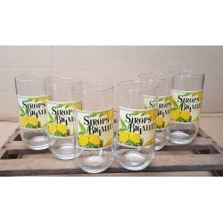 LOT DE 6 VERRES PUBLICITAIRE SIROPS BIGALLET - VINTAGE COLLECTION OCCASION