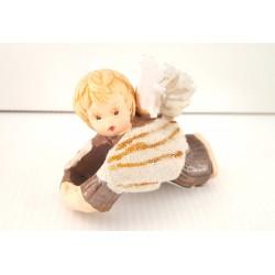 Rond de serviette petit ange marron - fêtes - Noël - Anneau serviette