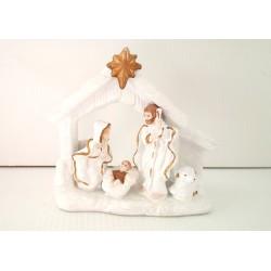 Petite crèche de Noël en céramique - fêtes - Noël