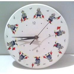 Idée cadeau déco horloge chambre enfant bois style marin neuf