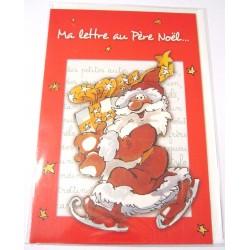 Carte postale neuve + enveloppe fêtes joyeux noël sapin la lettre au père noël (lot 06.01)