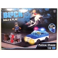 Block Build & play - Police Chase - 132 Pièces - Enfant - Lego