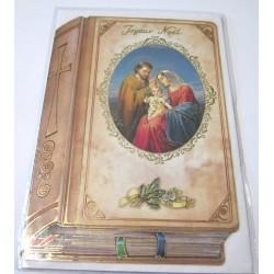 Carte postale neuve + enveloppe fêtes joyeux noël sapin père noël neige cadeaux (lot 14)