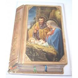 Carte postale neuve + enveloppe fêtes joyeux noël sapin père noël neige cadeaux (lot 15)