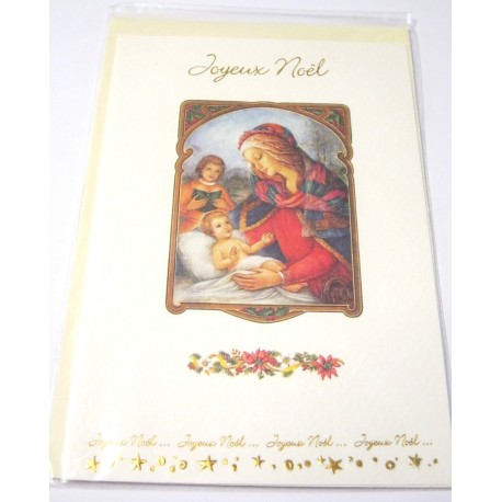 Carte postale neuve + enveloppe fêtes joyeux noël sapin père noël neige cadeaux (lot 28.02)