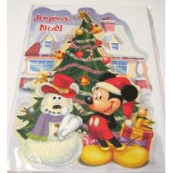 Carte postale neuve + enveloppe fêtes joyeux noël sapin père noël neige cadeaux (lot 50)