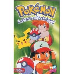 Cassette k7 vidéo vhs ENFANT Pokémon, A chacun sa technique occasion