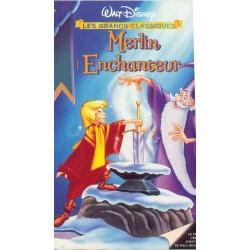 Cassette k7 vidéo vhs ENFANT MERLIN L'ENCHANTEUR Wolfgang Reitermann Walt Disney occasion
