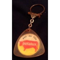 """Ancien porte clé publicitaire vintage """" POT AU FEU POTALUX """" pour collectionneur collection occasion"""